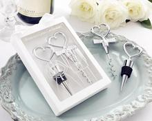 Factory Fast Delivery Direct Sale Wedding Favor Cheers To Ah Great Combination Wineset (Wine Stopper +Bottle opener)