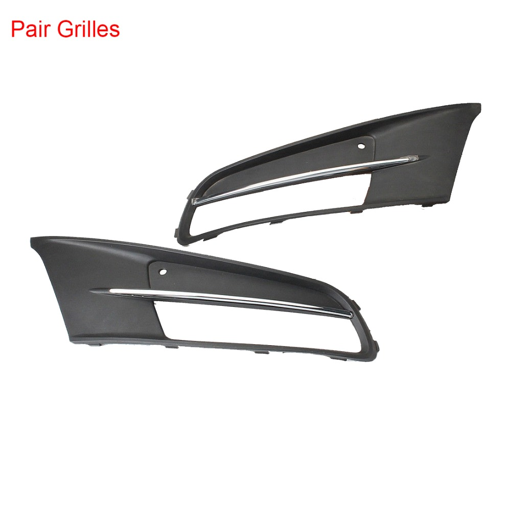 Chrome Front Left Right Bumper Lower Fog Light Lamp Grilles Cover For VW Sharan 2011 2016 7N0 853 665B 7N0 853 666B