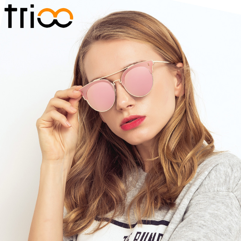 TRIOO New Fashion Ochelari de soare rotunzi Femei de lux - Accesorii pentru haine