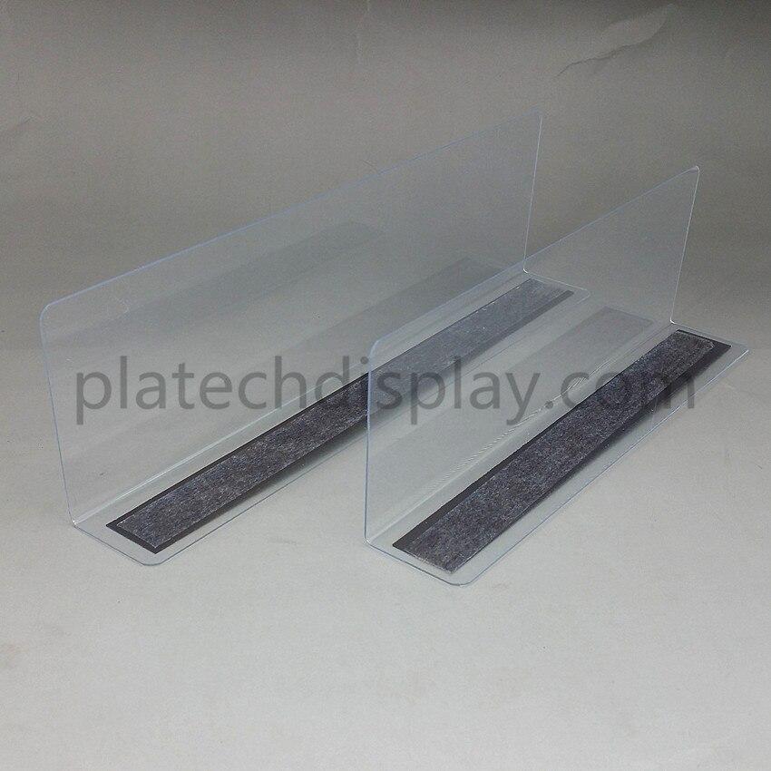 Plastic PVC Clear Storage Rack Shelf Side Splitter Back Plate Guard Dividers By Magnetic ...