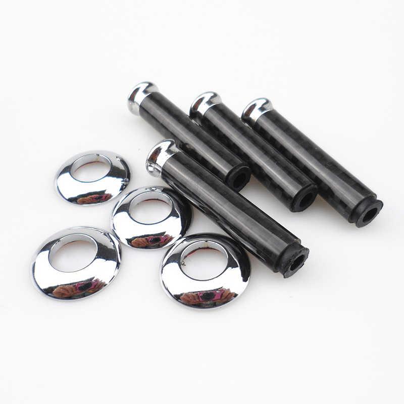 4Pcs Car Door Pins Cover Modified Door Lock Pins Black Carbon Fiber For M3 M5 M6