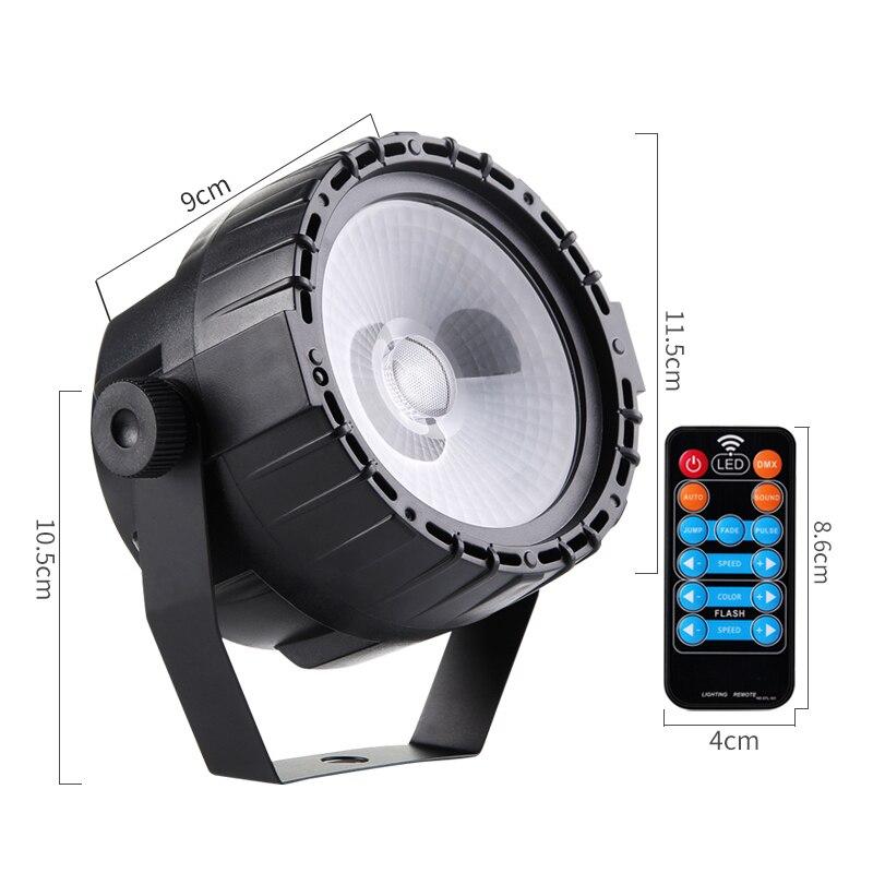 Лучший!  Мини Dmx512 Дискотека Rgb Stage Night Light 1 шт. 30 Вт Cob Led Par Light Пульт дистанционного