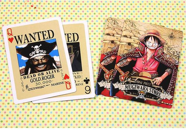 One Piece Wanted Posters Poker Cards