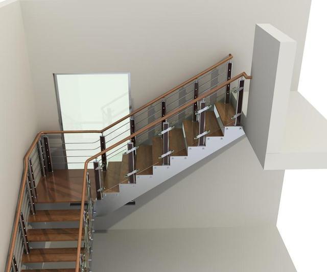 Mejor De Las Escaleras Interior Escaleras Acero Con Roble - Barandillas-para-escaleras-interiores