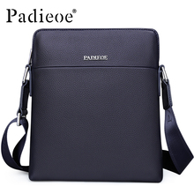 Padieoe Men's Fashion Shoulder Bag Famous Brand Handbag Small Crossbody Bag High Quality Genuine Leather Messenger Bag Free Ship