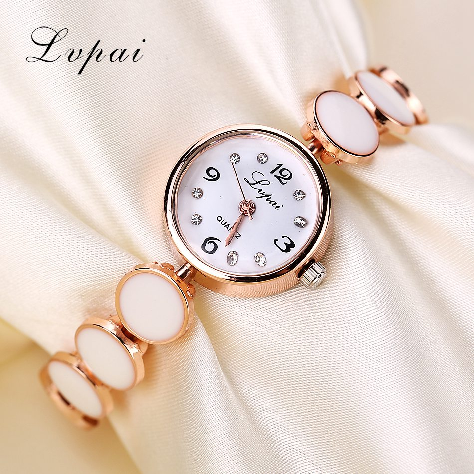 Lvpai Fashion Female New Round Full Casual Rhinestone Women Watch Wristwatches Dress Watch Vintage Clock Lady Gift Quartz Watch new lvpai vintage women fashion quartz watch faux leather men dress watch unisex casual wristwatches wood grain watches clock