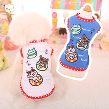 MKO LOVE U Princess Fashion Pet T-Shirt Small Dog Cat Vest Clothes Puppy Costumes for Chihuahua Yorkshire Terrier BLUE M