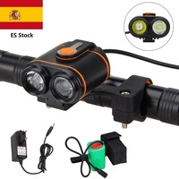 4 mode 2 LED lamp beads MTB Bike light 1000 LM bicycle Light+battery package+charger ES Stock