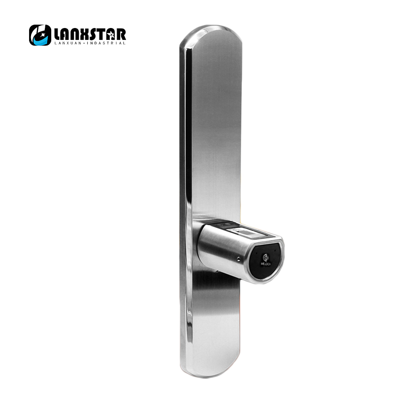 LANXSTAR New Luxury Double System Intelligent Micro Lock Core IP44 Bluetooth Fingerprint Locks APP  Electronic Smart Lockset