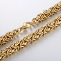 7mm Mens Chain Boys Byzantine Link Gold Silver Tone Stainless Steel Necklace Fashion Wholesale Customized Jewelry Gift LKN291
