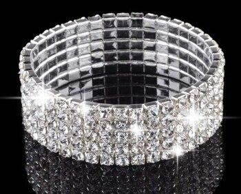 S112 fashion multi-layer rhinestone spiral bracelet wide bracelet bangles female jewelry