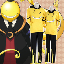 Assassination Classroom Cosplay Costume Korosensei Cosplay Uniform Outfit Anime Cosplay Costume Halloween Carnival Party Costume assassination classroom korosensei pendant necklace yellow ansatsu kyoushitsu koro shiota akabane cosplay weapons necklaces