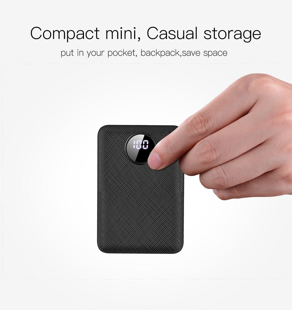 PZOZ Power Bank 10000mAh Dual USB Mobile Phone External Battery Fast Charge For iphone xiaomi mi Portable Charger mini PowerBank 4