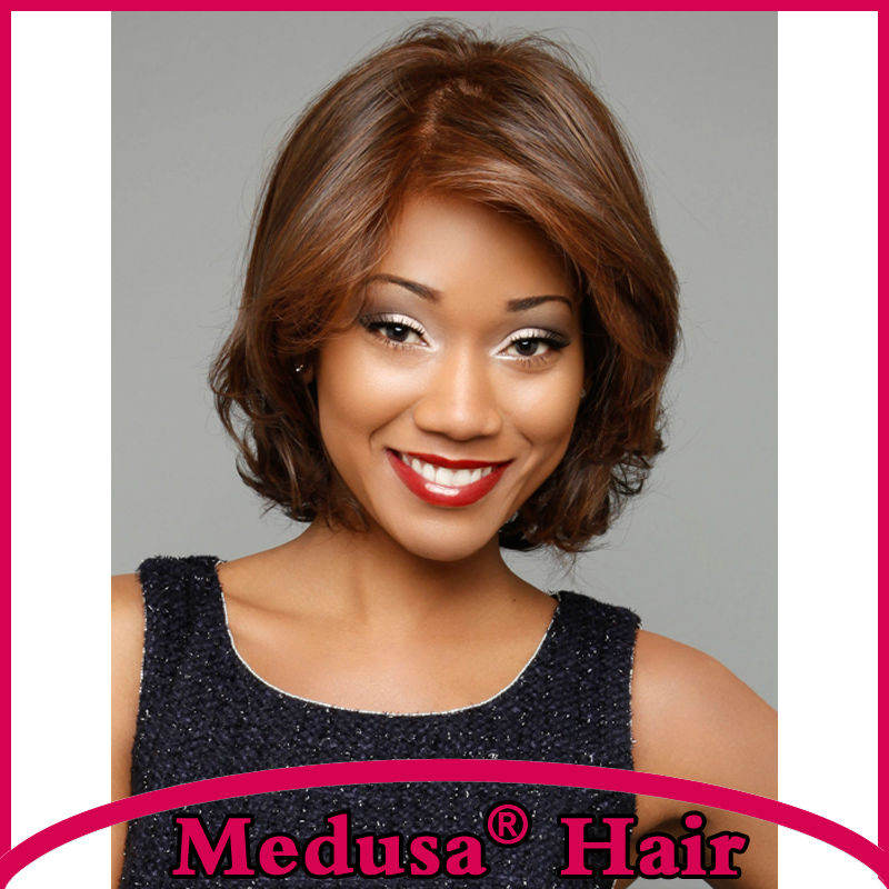 Medusa hair font b products b font Classic Synthetic pastel mono wig for women Medium length