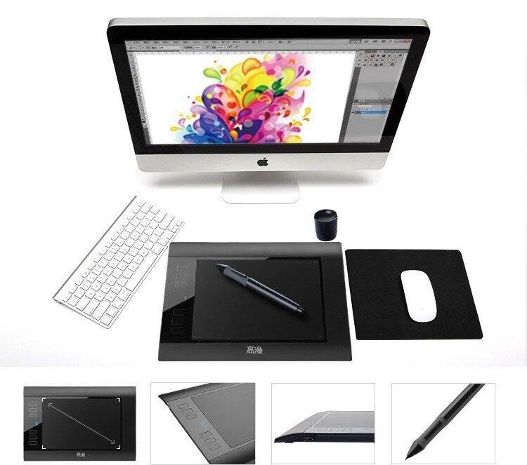 Ücretsiz Kargo Yeni Gaomon 860 T Grafik Kalem Tablet Çizim Tablet dijital Kalem Ile Tabletler USB 64 GB TF Kartı Uzatmak siyah