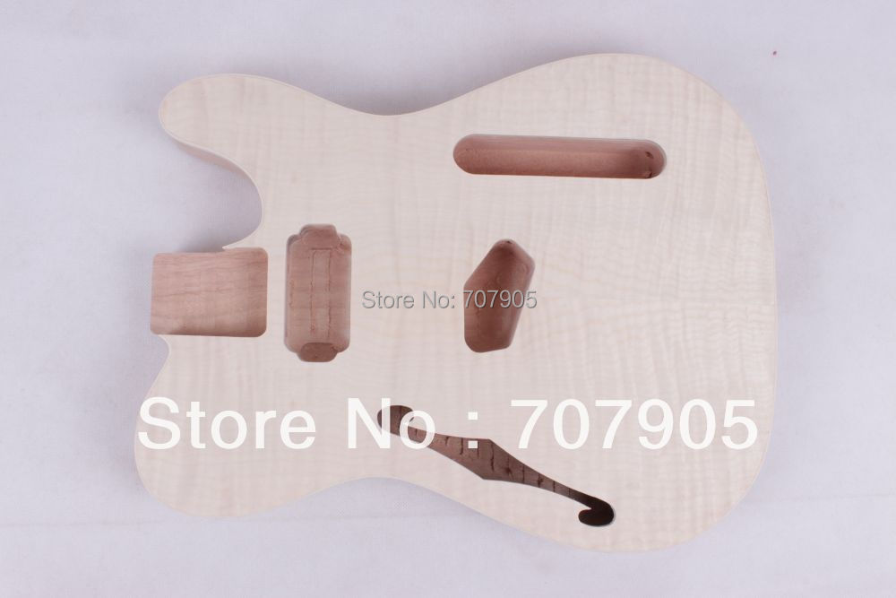 Wholesale - Electric guitar body Unfinished Mahogany body maple veneer top Humbuckers hole wholesale g lp custom electric guitar mahogany body maple neck in natural wooden 100807