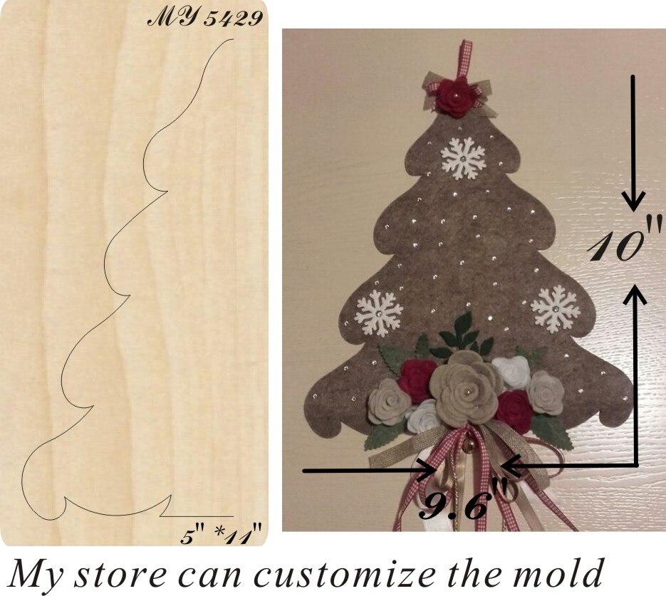 Christmas tree moulds die cut accessories wooden die Regola Acciaio Die Misura MY