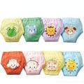 4 pçs/lote 4 Camadas Impermeáveis Fraldas Do Bebê Shorts Do Menino Do Bebê Da Menina Do Bebê Roupas Íntimas Infantis Calças de Treinamento Do Bebê Fraldas #004