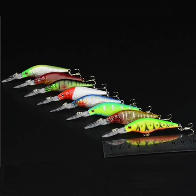 KKWEZVA 8pcs/lot Fishing Lures 9cm/ 6.6g deep pesca carp fishing tackle swimbait artificial bait hard crankbait