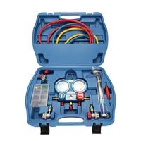 Professional Car Air Conditioning Refrigerant Pressure Gauge with Seal Rings Diagnostic Repairing Tool Kit