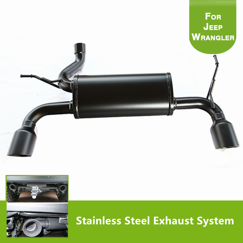 Performance Axle Back Exhaust System For 20072017 Jeep Wrangler Unlimited Jk: 2007 Jeep Wrangler Exhaust Systems At Woreks.co
