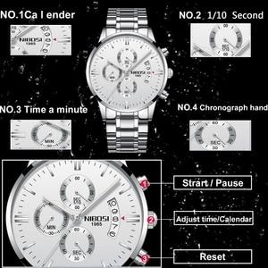 Image 2 - NIBOSI reloj deportivo para hombre, cronógrafo, resistente al agua, de cuarzo, dorado, Masculino