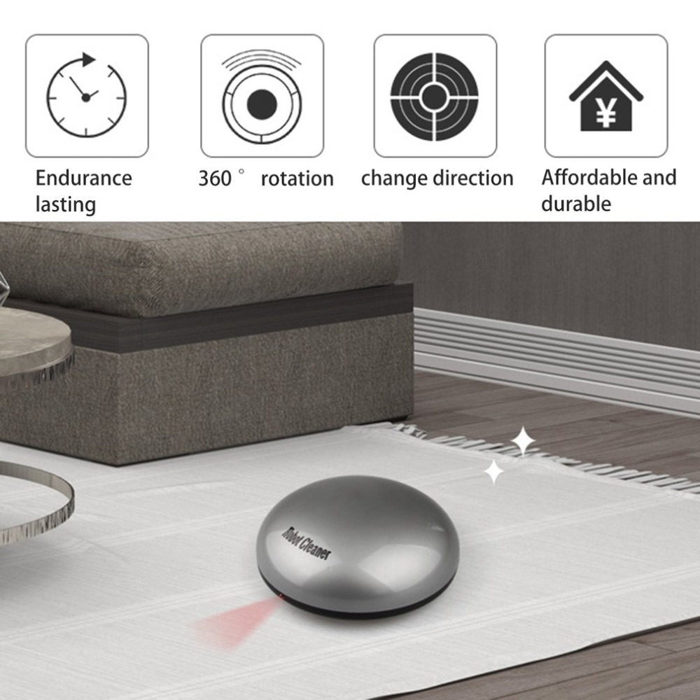 Intelligent Robotic Vacuum Cleaner Automatic Mini Sweeping Machine Intelligent Robot Vacuum Cleaner with Suction Dry and Wet Mop