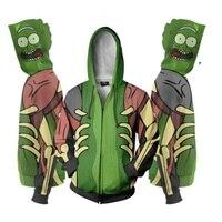 Rick and Morty 3D Print Hoodies Sweatshirts Cosplay Hooded Casual Coat Jacket