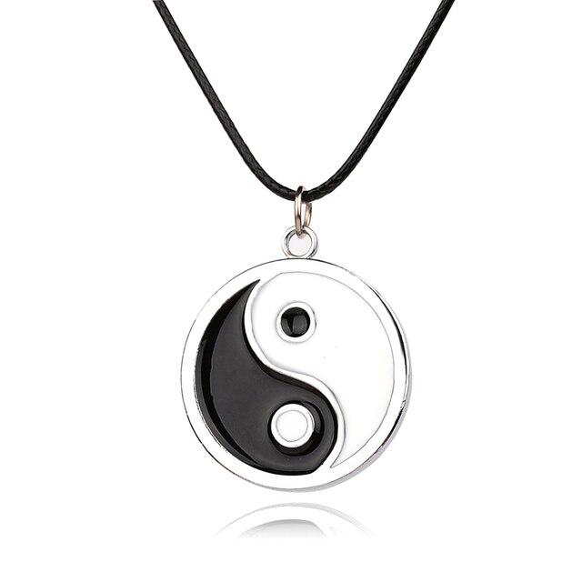 Japanese Anime Naruto Necklace Bagua Taiji Symbol Charms Necklace