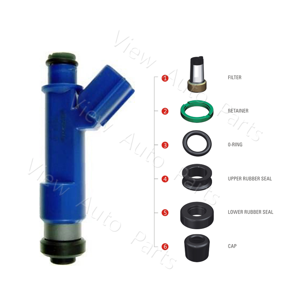 200 sets Fuel Injector Repair & Service Kits Filter Orings  For OEM 23250 21040  06 14 Toyota Yaris 1.5L    VD RK 0208-in Fuel Inject. Controls & Parts from Automobiles & Motorcycles    1