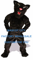 Black Power Cat Panther Mascot Costume Deluxe Adult Size Forest Wild Animal Beast Cosply Costume Carnival Mascotte SW1073