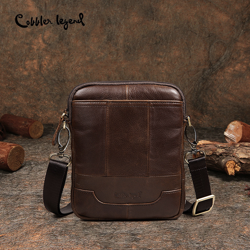 Cobbler Legend Famous Brand Messenger Bag For Men New Genuine Leather Shoulder Bags Crossbody Bags Male Vintage Slim & Light цена
