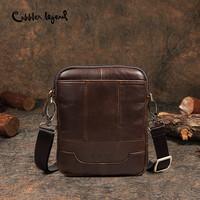 Cobbler Legend Famous Brand Messenger   Bag   For Men New Genuine Leather Shoulder   Bags     Crossbody     Bags   Male Vintage Slim & Light