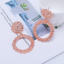 2019 Fashion Korean version Simple New Small Fresh Alloy Drop Earrings Hipster Rose Gold Silver Bride Brincos For Women Jewelry