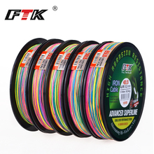 FTK 114M Multicolor Braid Line Super Strong Carp Colorful Braided Fishing Line 114m 8-60LB PE Multifilament 4 Strands frwanf 8 strand japan super strong pe braided fishing line multifilament fishing line 500m braid thread black 8 braid 6lb 300lb