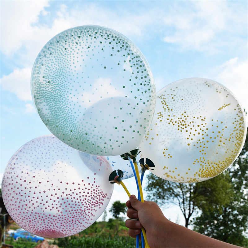 50 sztuk/partia 12 Cal statyczne lateksu piankowego magiczne balony duże przezroczyste balony dekoracje ślubne Birthday Party wypełnione pianką kulki