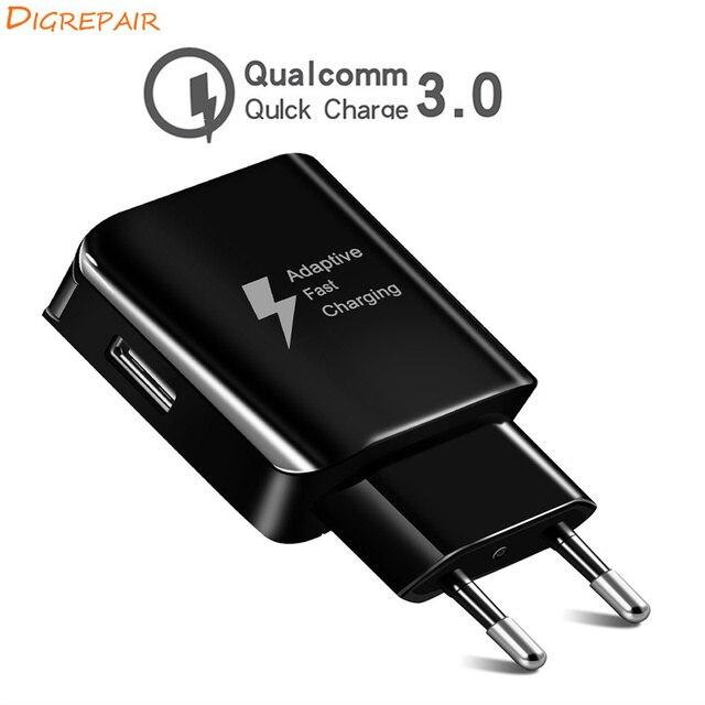 18 W تهمة 2.0 الهاتف المحمول شاحن آيفون Xiaomi هواوي الاتحاد الأوروبي الولايات المتحدة التوصيل شاحن سريع للهاتف المحمول شحن ل Samsug s8 s9