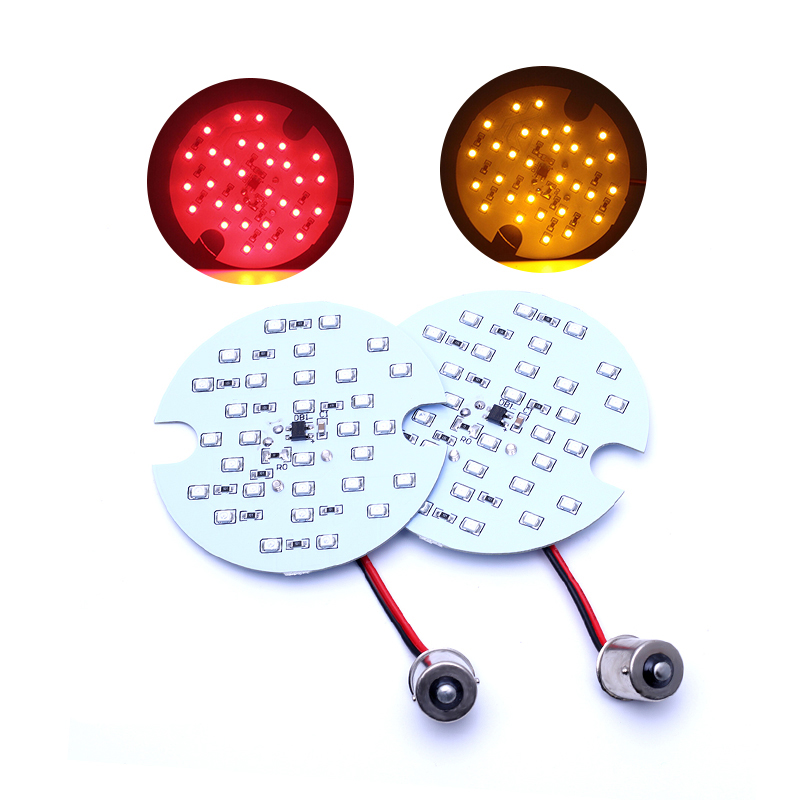 2X Rear 1156 Panel Bulb SMD LED Turn Signal Light For Harley Davidson Touring Red/Amber