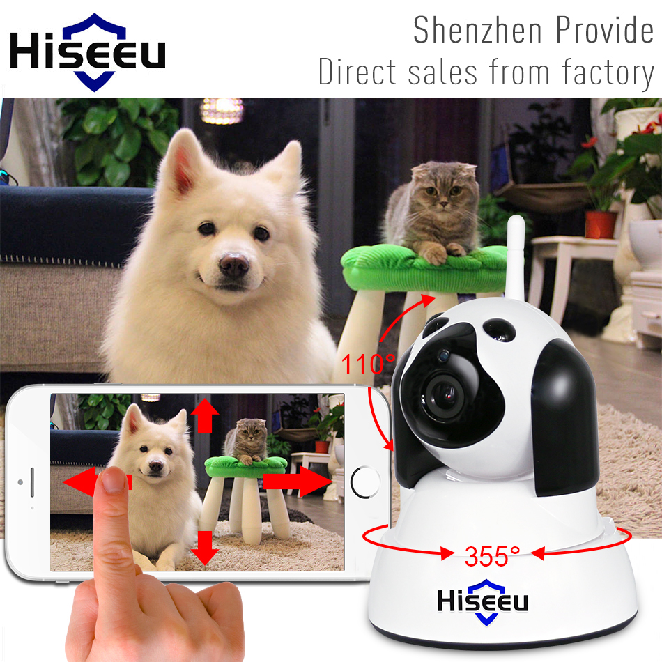 hiseeu Home Security IP Camera Wi-Fi Wireless Smart Dog wifi Camera Surveillance 720P Night Vision CCTV Indoor Baby Monitor FH4 720p hd ip camera wireless wifi wi fi video surveillance night vision home security camera cctv camera baby monitor indoor p2p