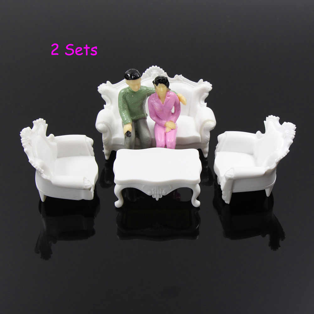 Zy05 2set G 1 20 1 25 Antique Sofa Settee Couch Model Train