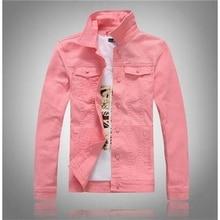 b Mens Casual Jean Jacket Slim Men Fits Denim Solid Male Cotton Coat Cowboy Fashion Brand Clothing Size 4XL