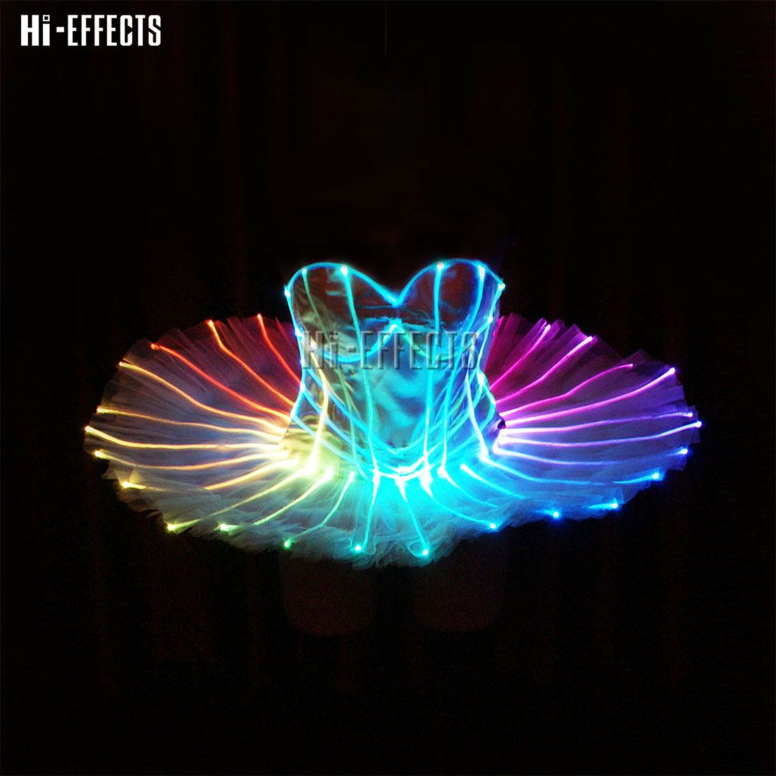 Female LED Luminous Party Dress Led Nightclub Sexy Costume Dress For Girls Light Up Remote Control Stage Performance Wear