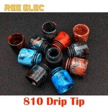 REE ELEC Electronic Cigarette Resin 810 Drip Tips Dual O Rings Wide Bore Drip Tip For Vape Pen RDA RBA Atomizer