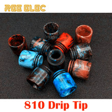 REE ELEC Electronic Cigarette Resin 810 Drip Tips Dual O Rings Wide Bore Drip Tip For Vape Pen RDA RBA Atomizer