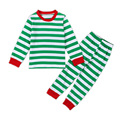 Nice Cute Baby Clothes Set Striped Boys & Girls Long Sleeve T-shirt + Pants Suit Christmas Roupa Infantil Pajamas YM25TZ