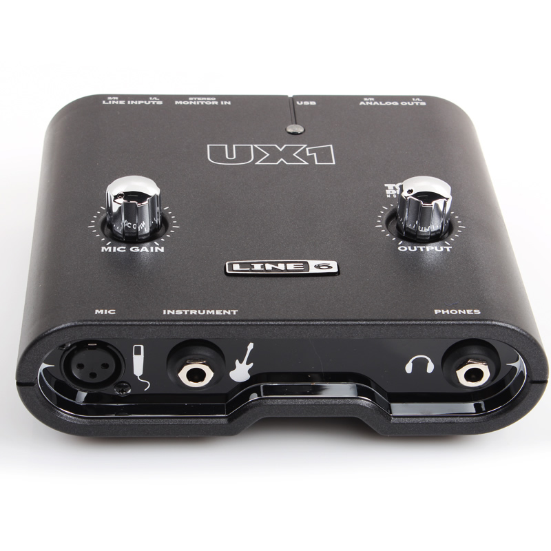 LINE6 POD Stidio UX1 professional audio interface sound card for electric guitar bass recording electric guitar to interface usb audio link cable for mac pc mp3 recording xp