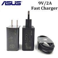 ASUS Zenfone 2/3 chargeur rapide pour ZE551ML Selfie/Go Ultra Deluxe téléphone 9 V/2A qc 2.0 adaptateur de charge rapide Type C/Micro usb câble