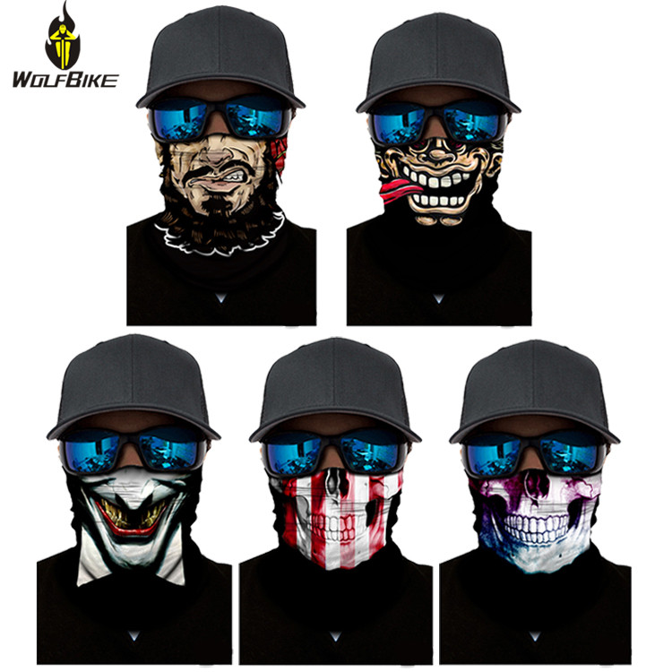 Wolfbike 3D Triangle Cycling Mask Head Scarf Neck Cover UV P…