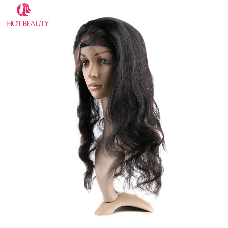 Hot Beauty Hair Remy brésilien Hair Wave Body 360 Dentelle Frontale - Cheveux humains (noir) - Photo 5
