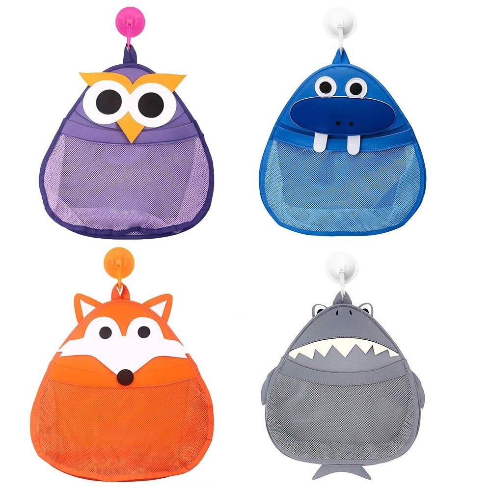 Kids Cartoon Baby Bath Toy Storage Bags Shower Sundries Toys Tidy Organizer Net Mesh Bag Hanging Pouch Bathroom Storage Baskets